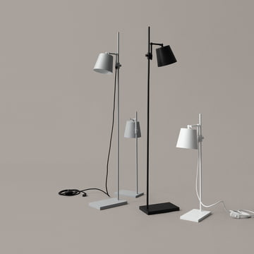 Steel Lab Light Floor Lamp and Table Lamp