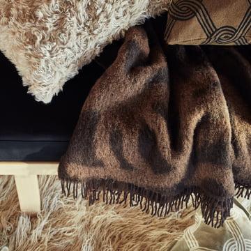 Marimekko - Joonas Blanket, brown / dark brown