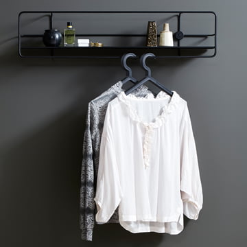 Illusion hanger with Coupé wall shelf by Woud