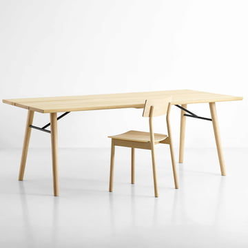 Split dining table and Pause dining chair