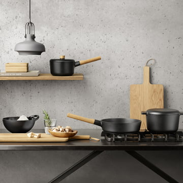 Sautier pan, casserole, saucepan and mixing bowl from the Nordic Kitchen collection by Eva Solo