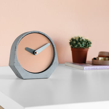 Konstantin Slawinski - Theda Table Clock in beige red