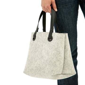 The Hey Sign - Mia Felt Bag in Marble