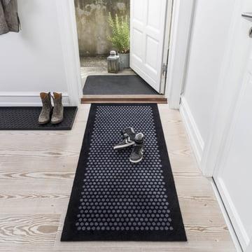 The tica copenhagen - Dot Doormat in black / grey, 67 x 150 cm