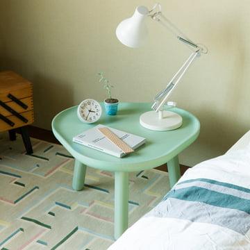 Karimoku New Standard - Soft Triangle Side Table, light green