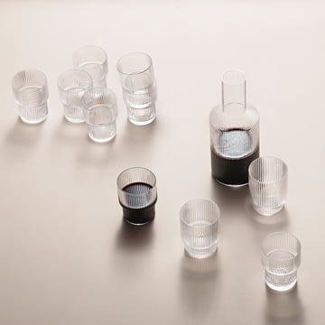 Ripple Glasses and Carafe by ferm Living