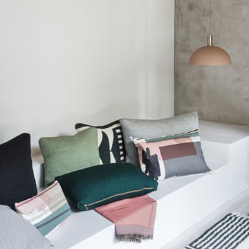 Colour Block Cushion and Bedspread from ferm Living with Dome Shade