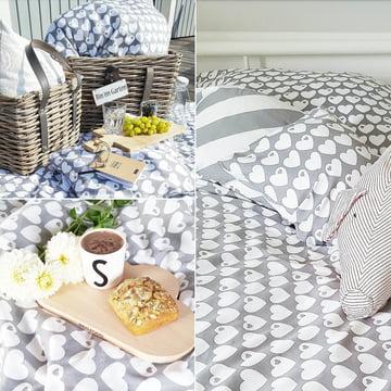 Reversible Bed Linen Hearts by byGraziela