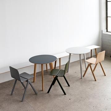 Hay - Copenhague CPH Deux 220 Table, Ø 75 cm