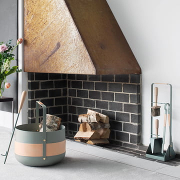 Fireplace Tools, Wood Basket and Blow Poker from Eldvarm