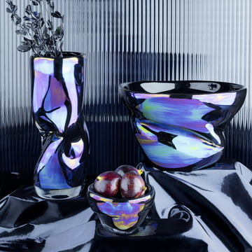 Warp Bowl and Vase by Tom Dixon