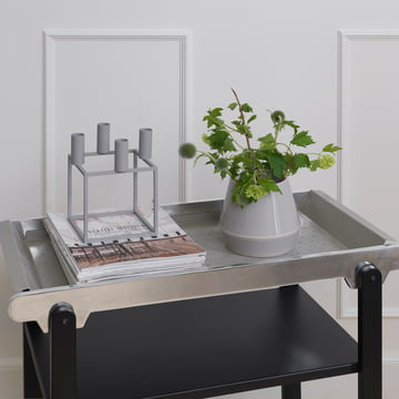 Rimm Vase and Anoon Serving Trolley