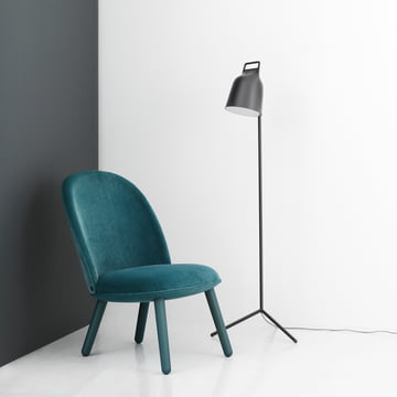 Stage Floor Lamp with Ace Lounge Chair Velour