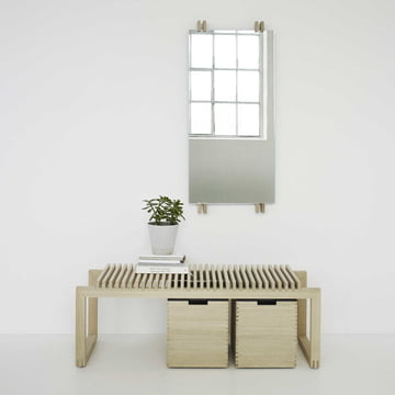 Cutter Mirror and Bench by Skagerak