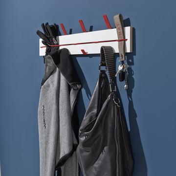 emform - Corobench, white - Expander wall mounted coat rack, white / black