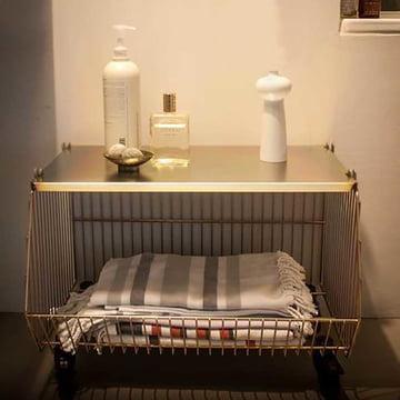 Pension für Produkte - Home Wire Basket, yellow galvanised