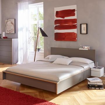 Flai Bed with Headboard by Müller Möbelwerkstätten