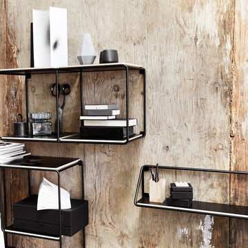 Korridor - AnyWhere wall shelf, black