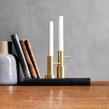 Candlestick Single by Fritz Hansen in Brass