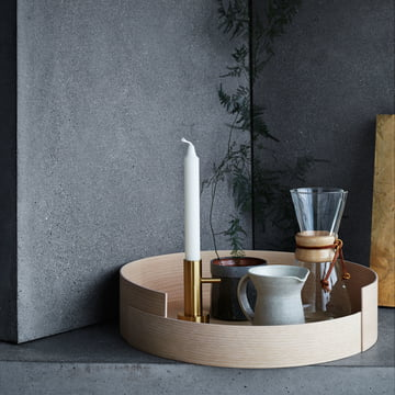 Candleholder Single and Stack Tray by Fritz Hansen