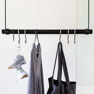 Coat hook and hanger as well as the hanging coat rack by LindDNA