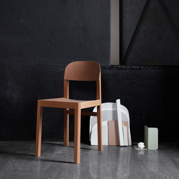 The Workshop Chair by Muuto in A Dark Room