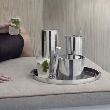 Stelton - Cylinda Line insul. ice bucket 1 l, stainless steel