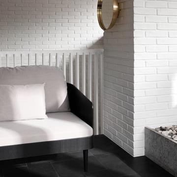 Light-colored sofa