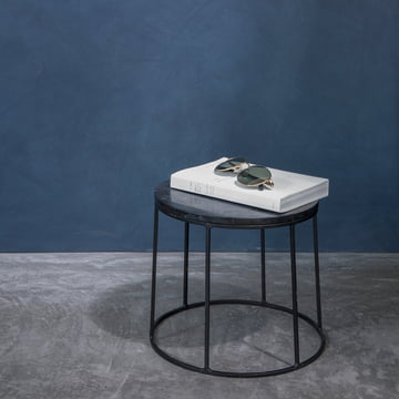 The Wire table top by Menu as storage space