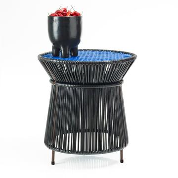 ames - caribe High Table, black / blue / brown