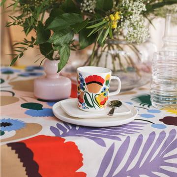 Oiva Ojakellukka Mug, Oiva Plate und Flower Vase