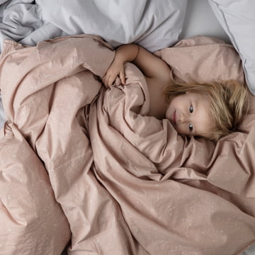 Hush Junior Bedding by ferm Living in pink and blue
