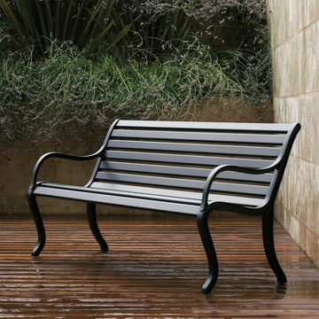 Oasi Garden Bench by Fast in black