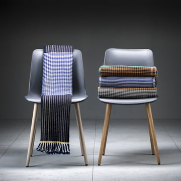Ruana blanket with chairs