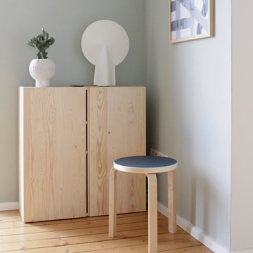 Stool 60 by Artek in the Nordic Winter Edition
