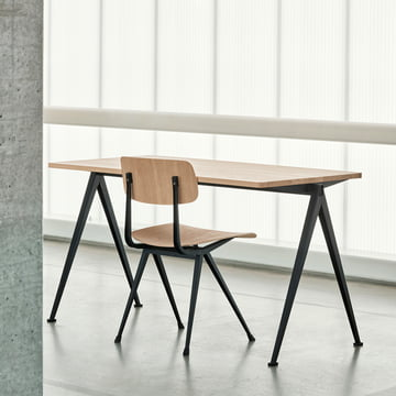 Pyramid Desk with Result Chair by Hay