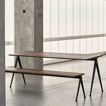 Pyramid Desk and Bench by Hay