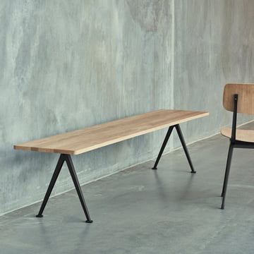 Pyramid Bench with the Result Chair by Hay