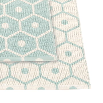 Honey Reversible Rug by Pappelina in Pale Turquoise / Vanilla