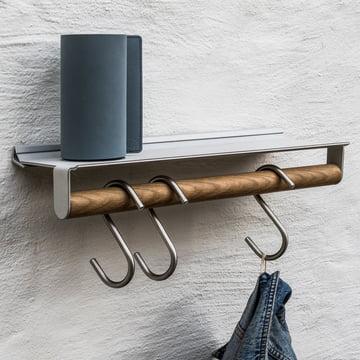 LindDNA - Slim Rail, 20 x 45 cm, natural oak, metallic Nupo / metallic aluminium