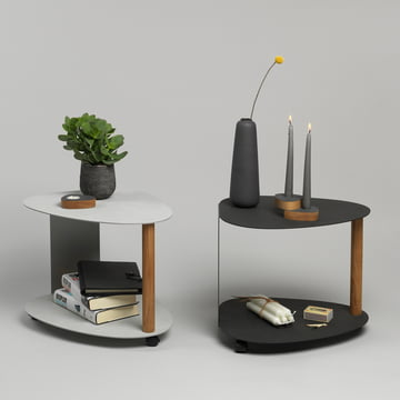 Curve Side Table L by LindDNA