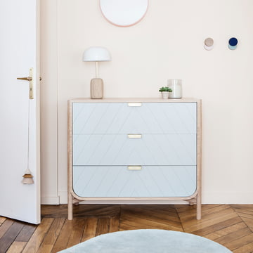 Hartô - Marius Chest of Drawers, light grey (RAL 7035)