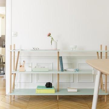 Simone Bookshelf with the Charlie Series