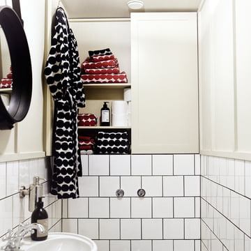 Räsymatto Hand Towel by Marimekko in the Bathroom