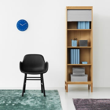 Confetti Rug, Jalousi Cupboard and Form Armchair