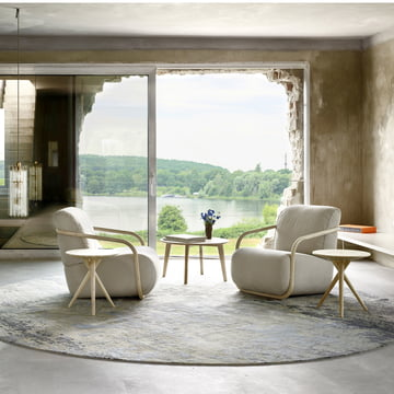 1025 & S 1860 Side Table by Thonet