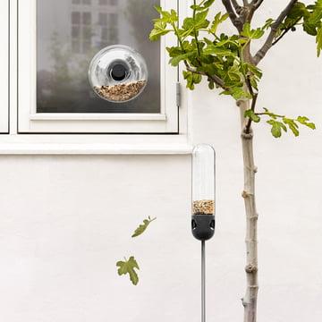 Window Bird Feeder and Standing Bird Feeder by Eva Solo