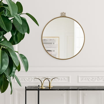 Randaccio Wall-Mounted Mirror by Gubi Above the Sideboard
