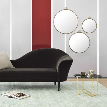 Matégot Coffee Table with Grand Piano Sofa by Gubi