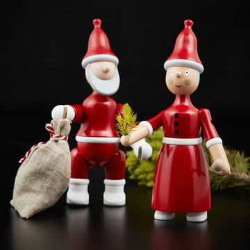 Santa Claus and Mrs Claus by Kay Bojesen